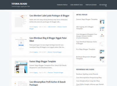 Blogku Blogger Template