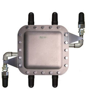 wireless access point enclosure for hazardous industrial area