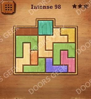 Cheats, Solutions, Walkthrough for Wood Block Puzzle Intense Level 98