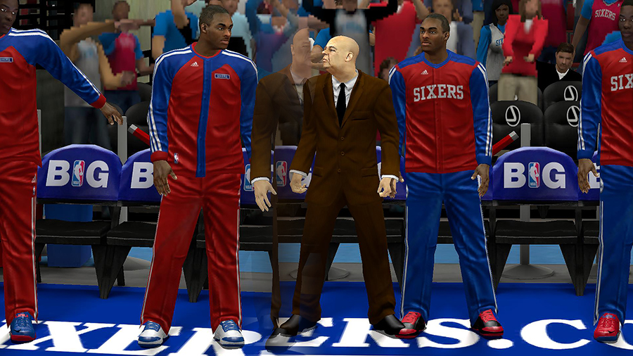 Sixers Bench Uniform Patch NBA 2K14