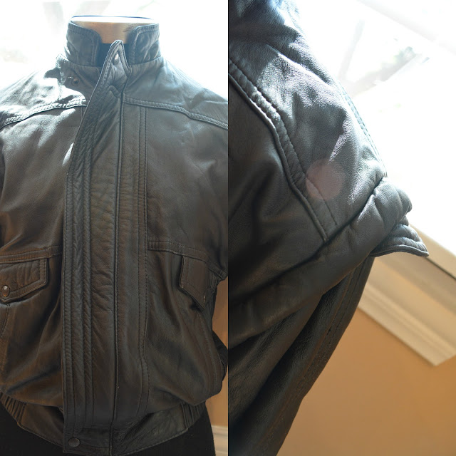 80s bomber jacket with shoulders like Michael Jacket Thriller