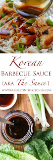 Korean Barbecue Sauce can go just about anywhere regular barbecue sauce can go, but is also wonderful with stir fries, lettuce wraps, fried rice; this sauce is an instant flavor boost to almost any food!