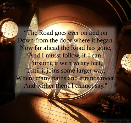 Lord Of The Rings Travel Quotes: Gobs And Gobs Of Books: The Lord Of The Rings: The