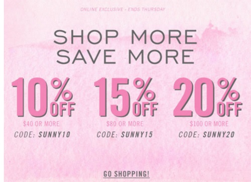 Forever 21 Shop More, Save More Up To 20% Off Promo Code