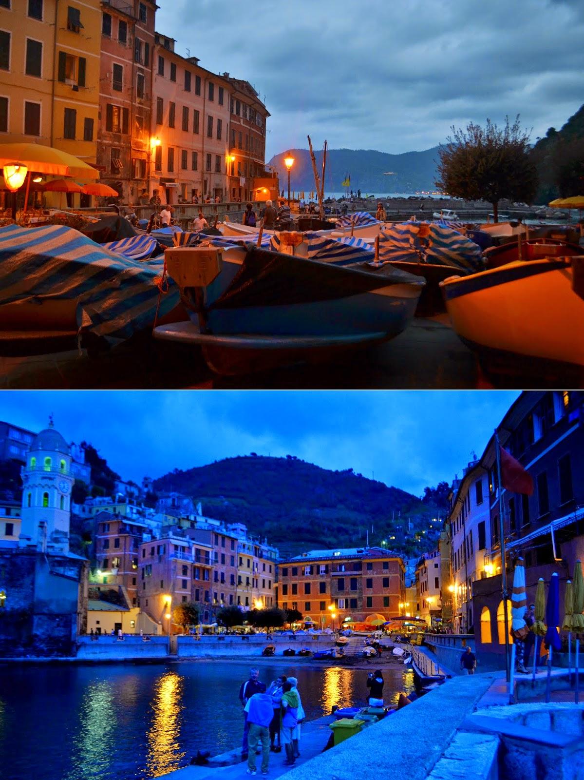 Cinque terre, vernazza, night, italy,