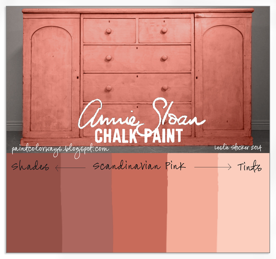 An Antique Sideboard Painted With Shades And Tints Of Scandinavian Pink Annie Sloan Chalk Paint