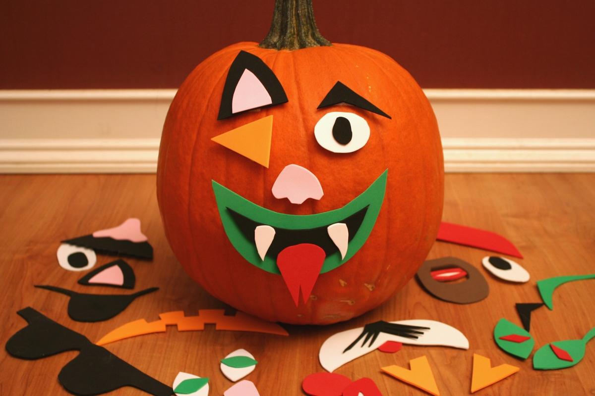 Cool funny jack o lantern face design pattern templates - Hacer calabaza halloween ...