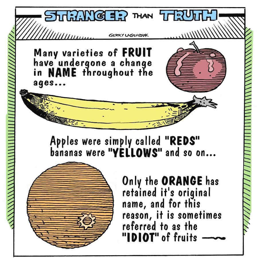 Stranger Than Truth, history cartoon, science cartoon