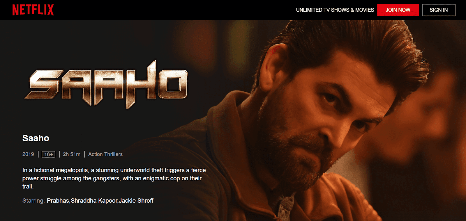 Saaho Full Movie Download In Hindi 720p Moviescounter
