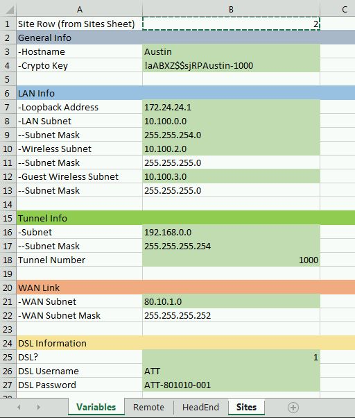 The8thLayer: Preparing to build a Cisco config with Excel