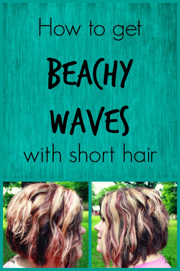 How To Get Beach Waves On Short Hair With Tresemm 233