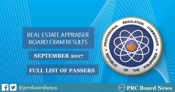 real estate appraiser board exam results