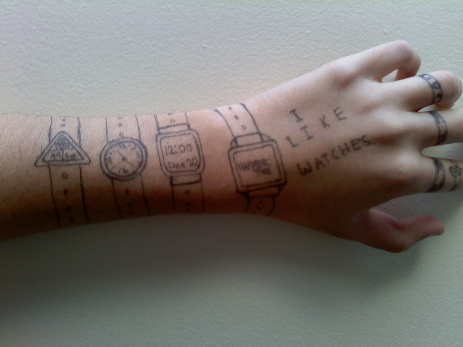 Draw On Your Hand Arm Let S Make A Drawing