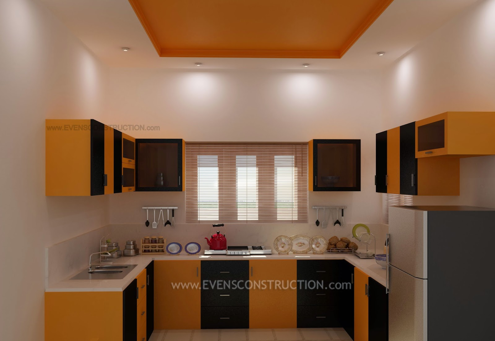 Evens Construction Pvt Ltd Modern Kerala Kitchen Interior