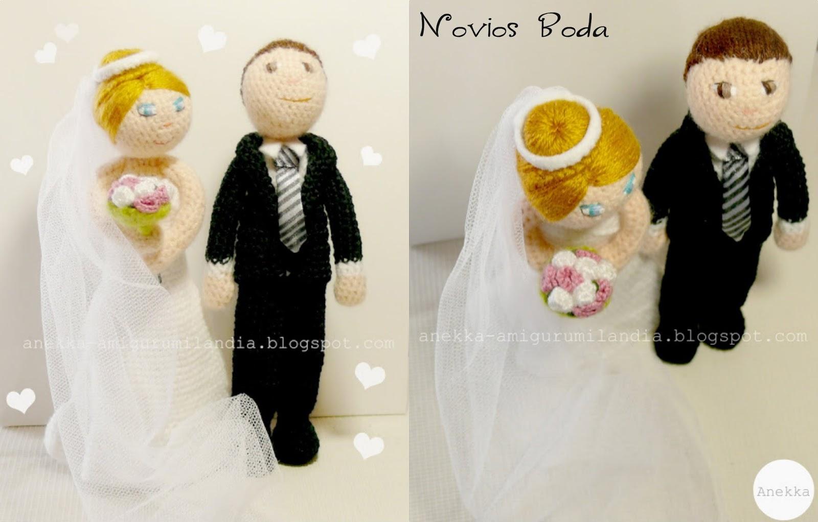 novios amigurumi bodas regalos personalizados