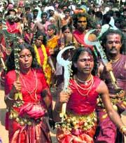 Kodungallur Devi Temple Kavu Theendal Festival in Meenam Month