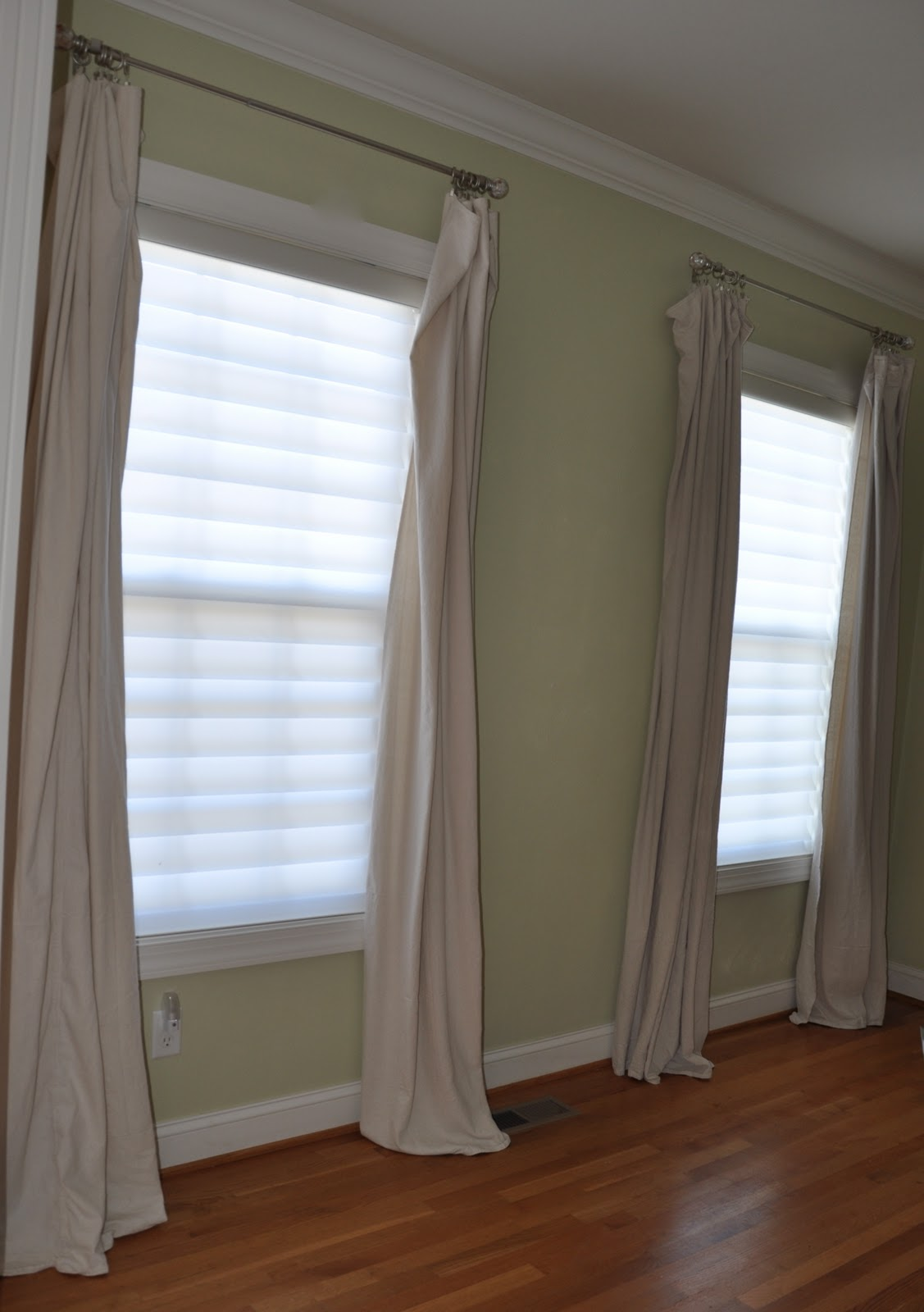 Stuart and Grace Drop Cloth Curtains