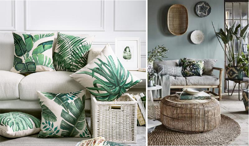 cuscini arredo tropical style