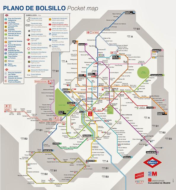 plano mapa del metro de madrid