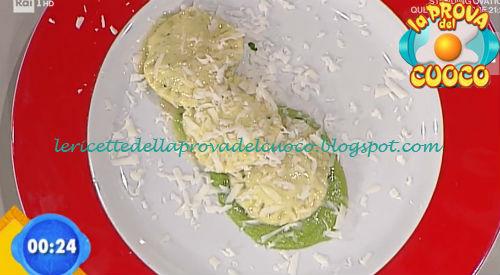 Ravioli ripieni di erbe e pecorino con spuma di piselli ricetta Giunta da Prova del Cuoco