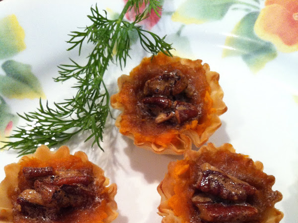 Sweet Potato & Pecan Phyllo Appetizers