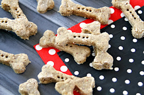 Bone shaped homemade dog treats