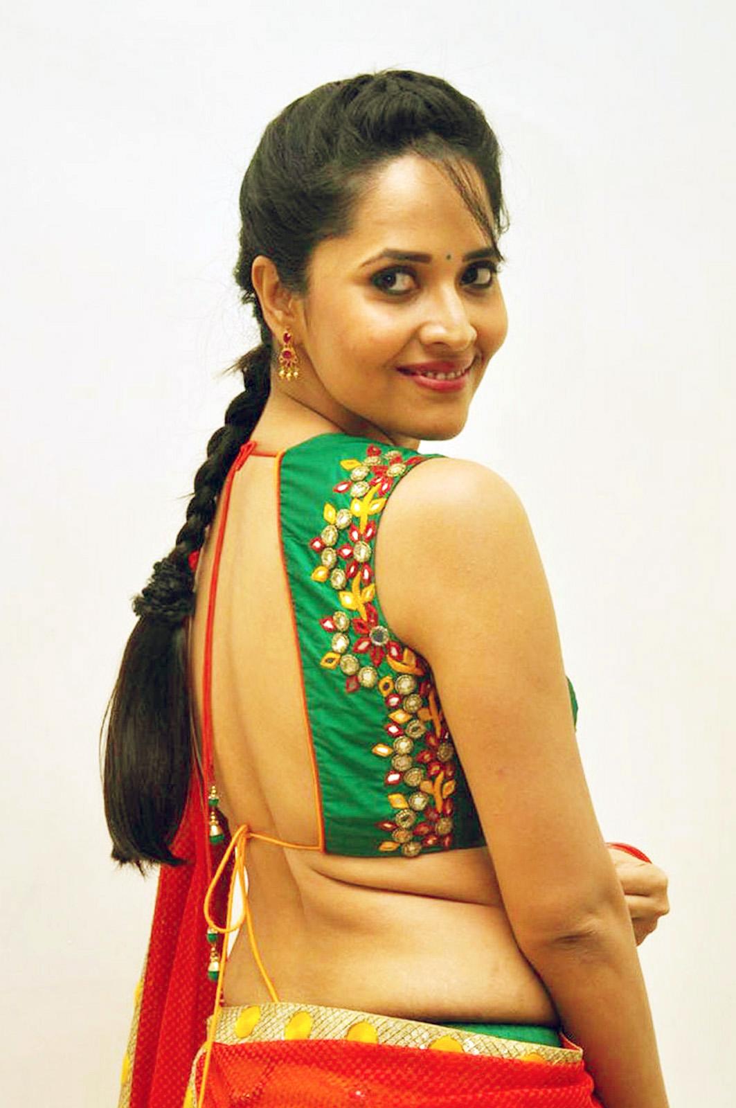 TV Anchor Anasuya In Yellow Half Saree At Telugu Film
