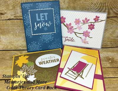 Color Theory Card Pack Cards from Stampin' Up! Memories and More created by Kay Kalthoff with Stamping to Share!