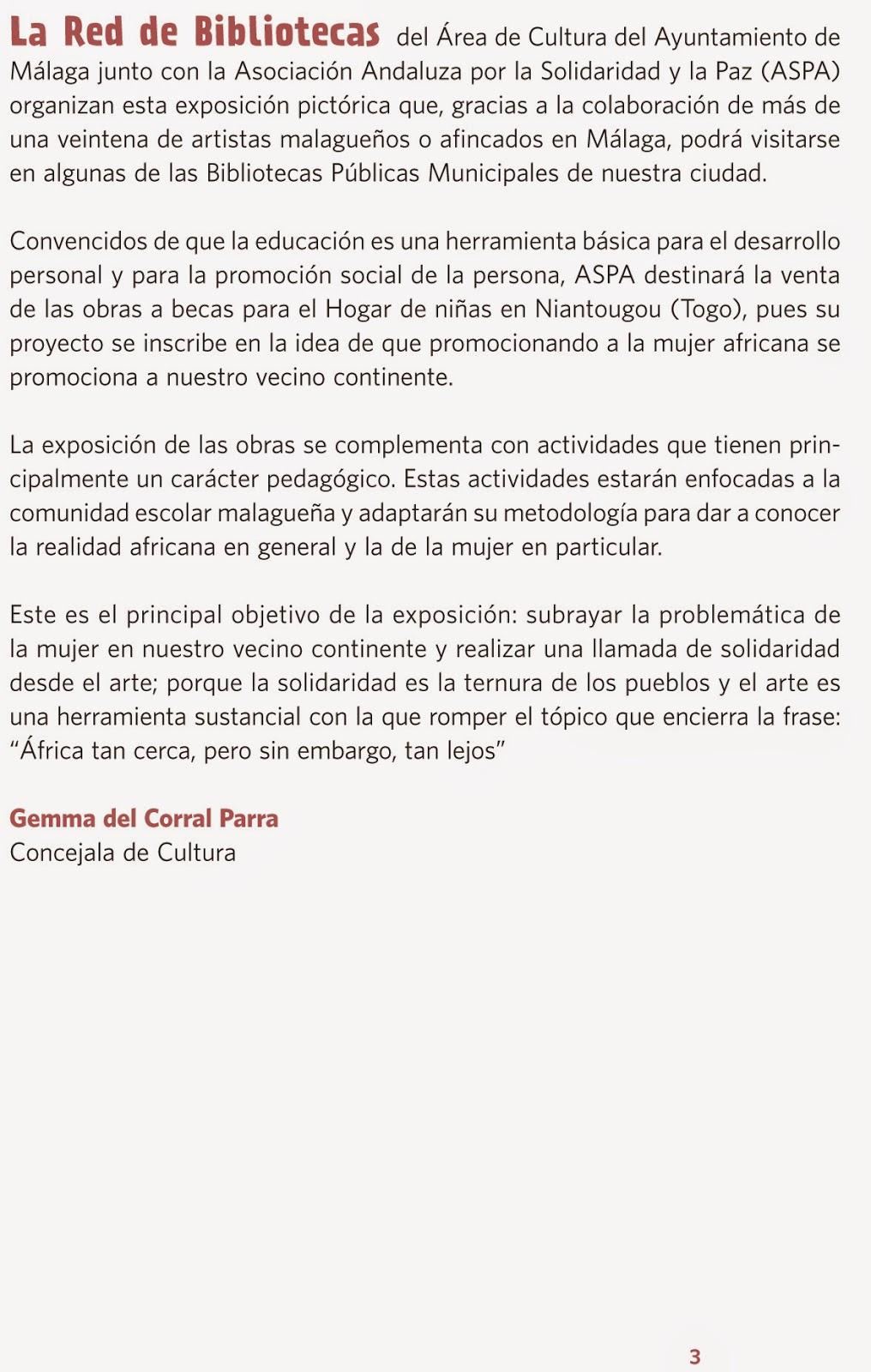 Obra plstica Exposicin solidaria ASPA