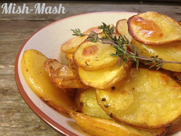 Печени картофи със сол и оцет