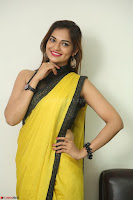 Cute Actress Ashwini in Yellow Saree Exclusive  048.JPG