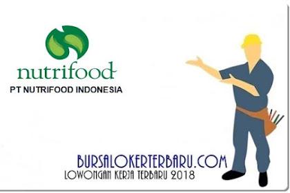 Lowongan Kerja PT Nutrifood Indonesia Agustus 2018