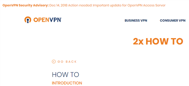 OpenVPN 2x HOW TO - Introduction