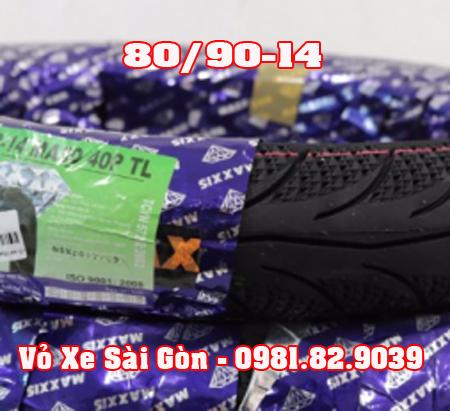 Vỏ xe máy Maxxis 80/90-14 3D Airblade, Vision, Mio, Click, Vario