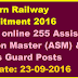 Eastern Railway Recruitment 2016 Apply online 255 Assistant Station Master (ASM) & Goods Guard Posts