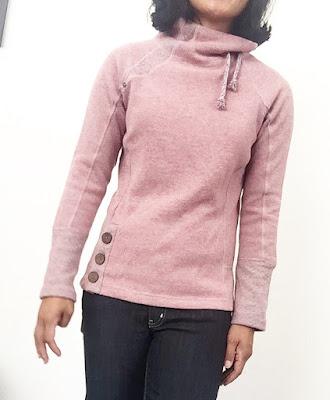 prAna's Lucia Sweater in light mauve