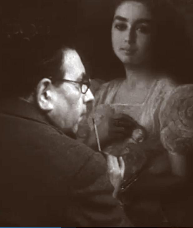 Victor Moya pintando