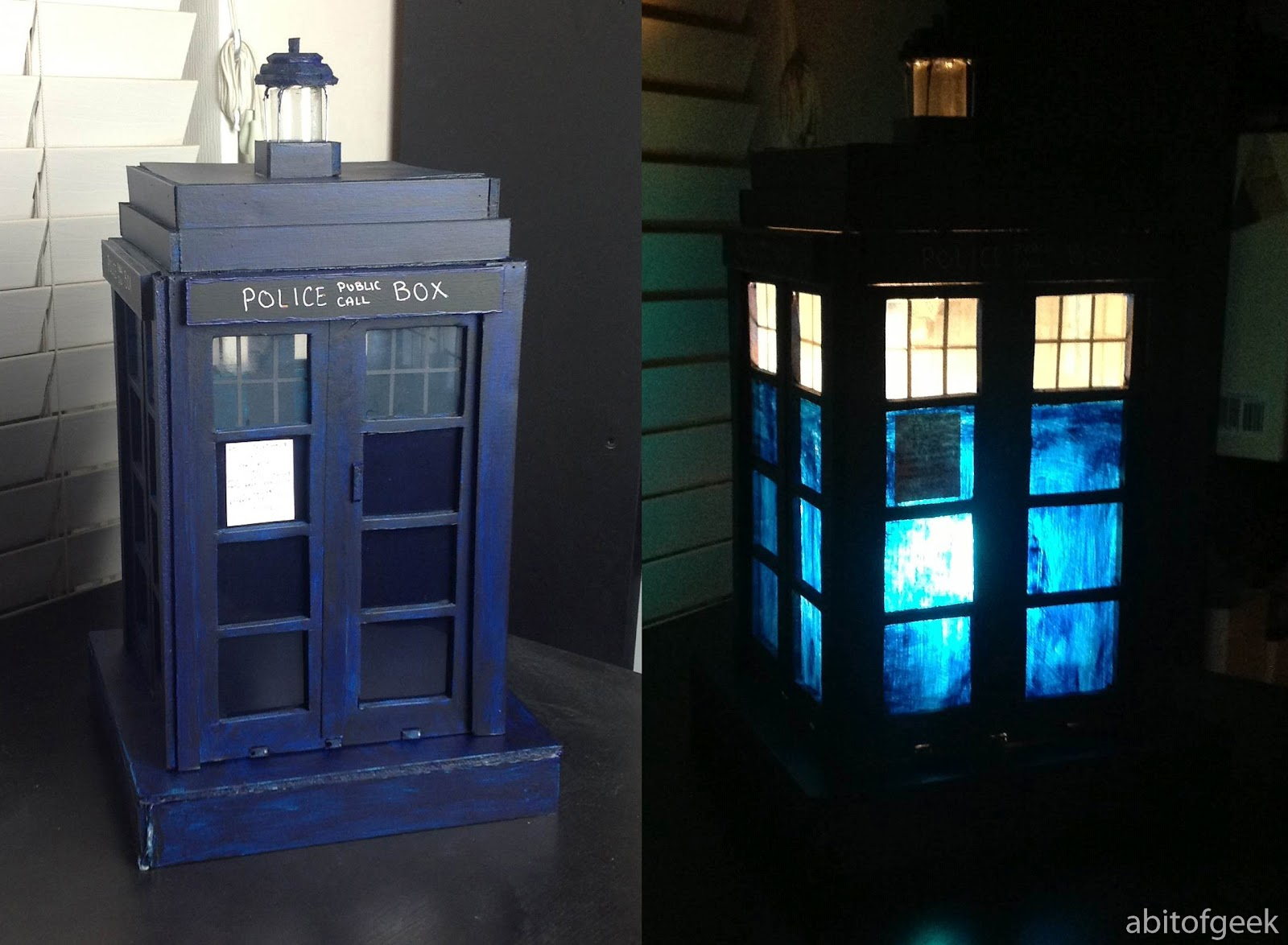 The BBC Website Has Offerings That Are Drool Worthy But For Whovian On A Budget I Have Solution Homemade TARDIS Desk Lamp