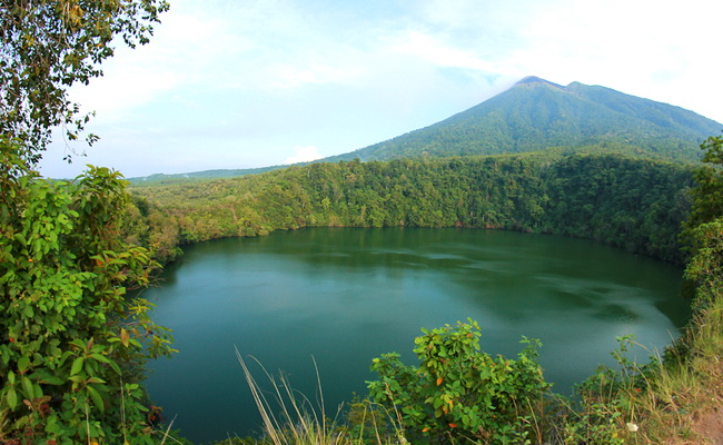 Xvlor Lake Tolire are two mysterious lakes at Mount Gamalama on Ternate Island