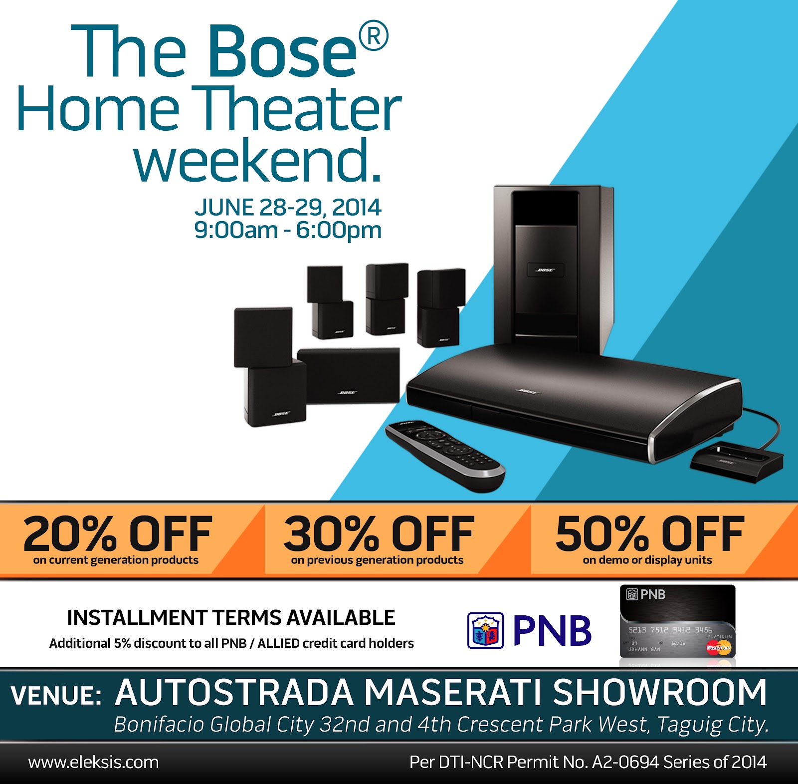 Bose Home Theater Weekend Sale