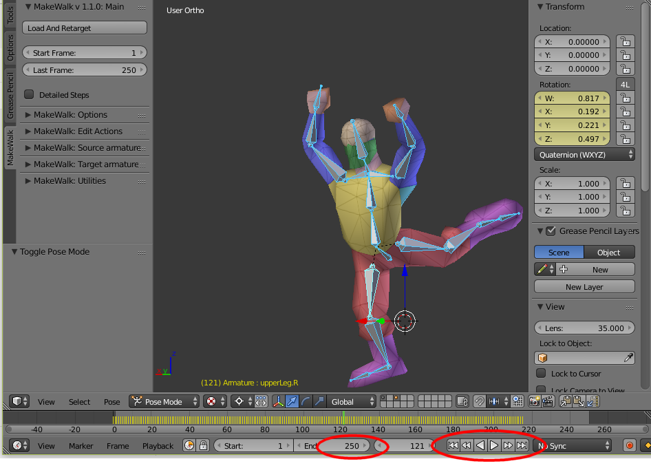 Nerd Club: Importing BVH files into Blender Rigify-ied rig