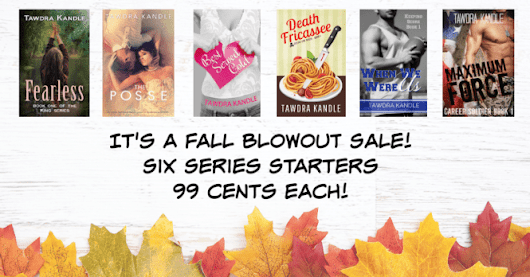 Tawdra Kandle's FALL BLOWOUT BOOK SALE! 99 CENTS!