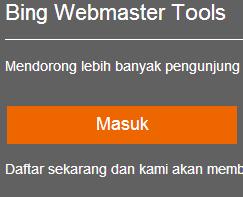 untuk panduan mendaftar webmaster bing