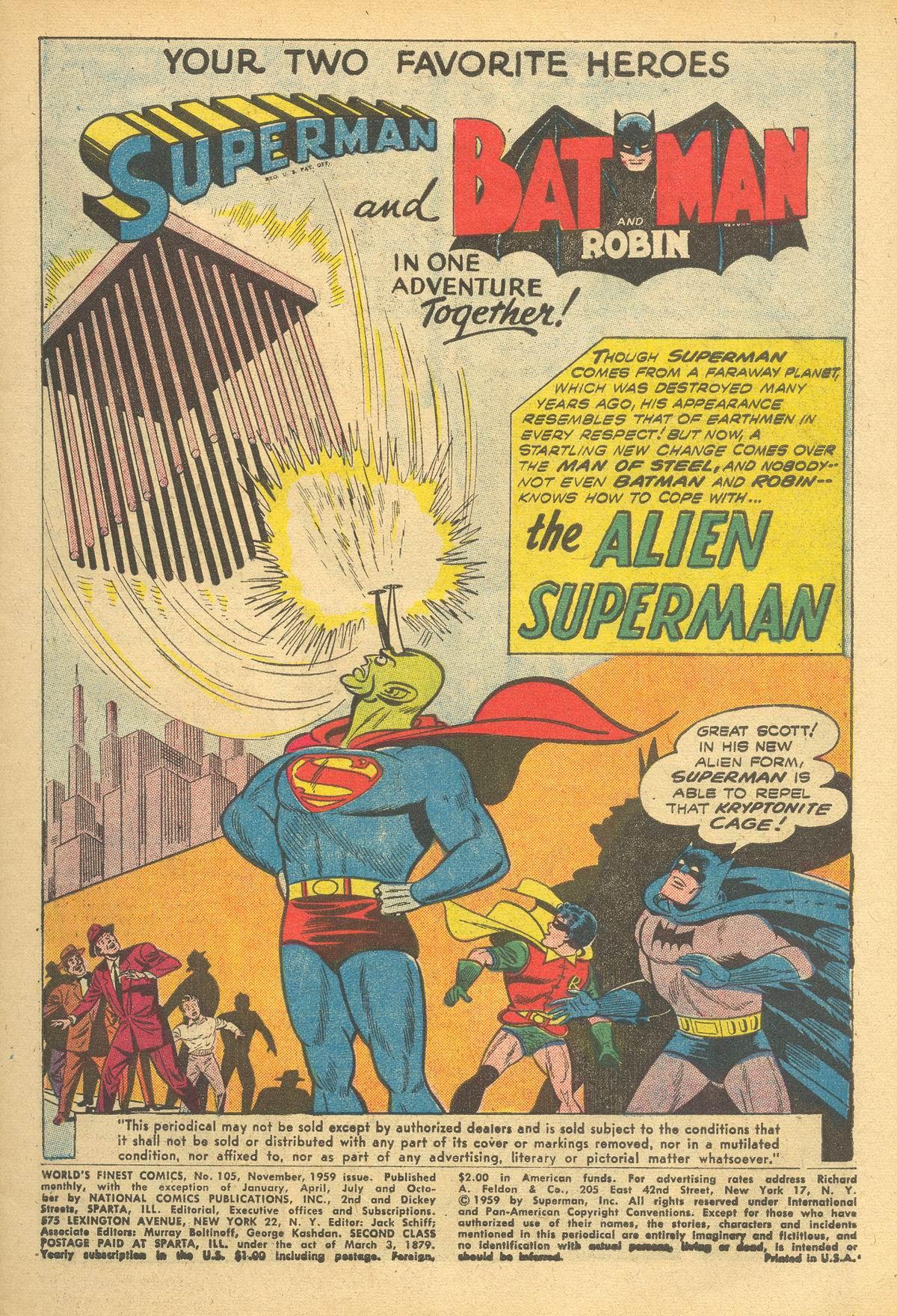 Read online World's Finest Comics comic -  Issue #105 - 3