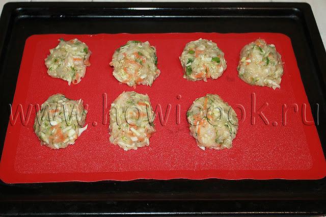 рецепт куриных котлет с капустой в духовке с пошаговыми фото