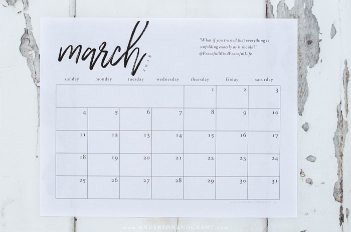 Free March Printables anderson + grant