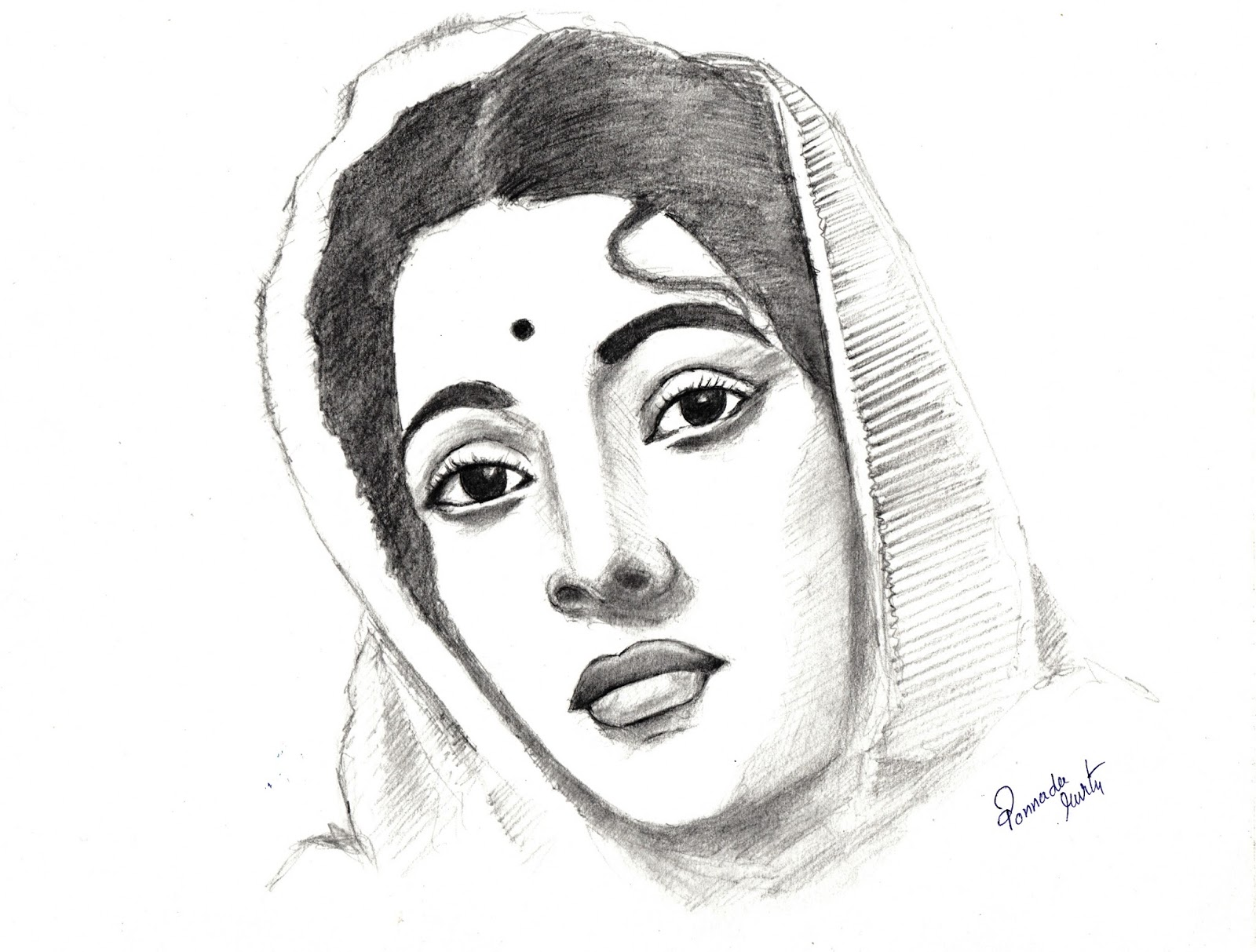 Suchitra sen pencil drawing a tribute