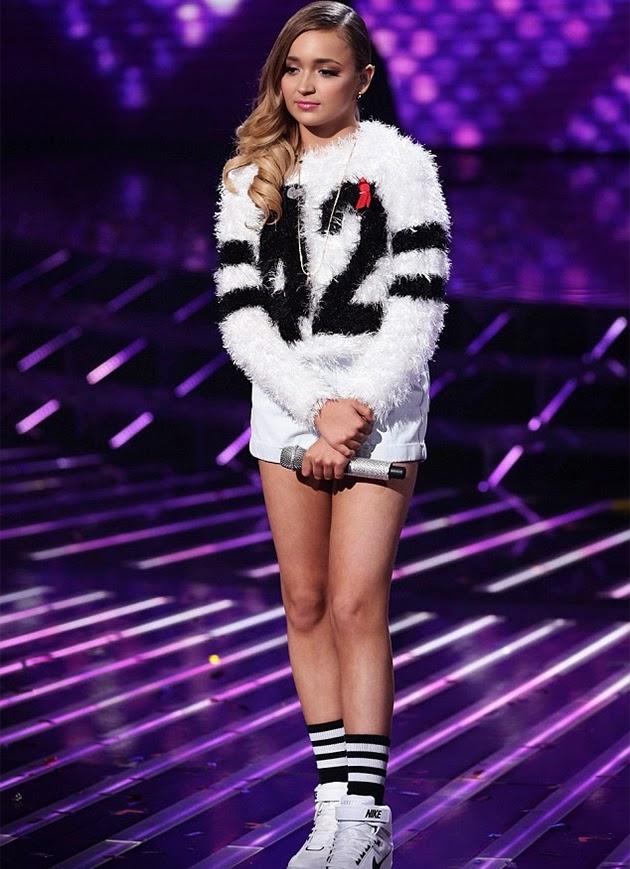 Lauren Platt X Factor outfit