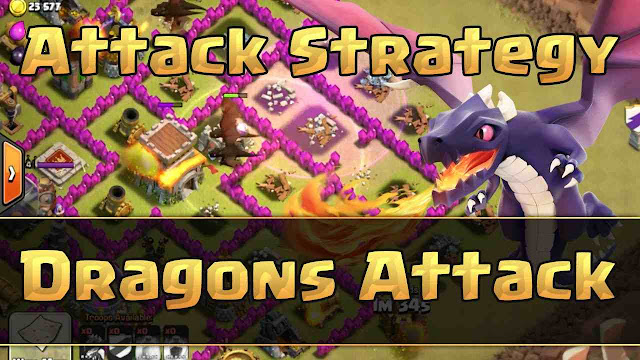 Strategi Menyerang COC Clash Of Clans Th 7 Dengan Naga