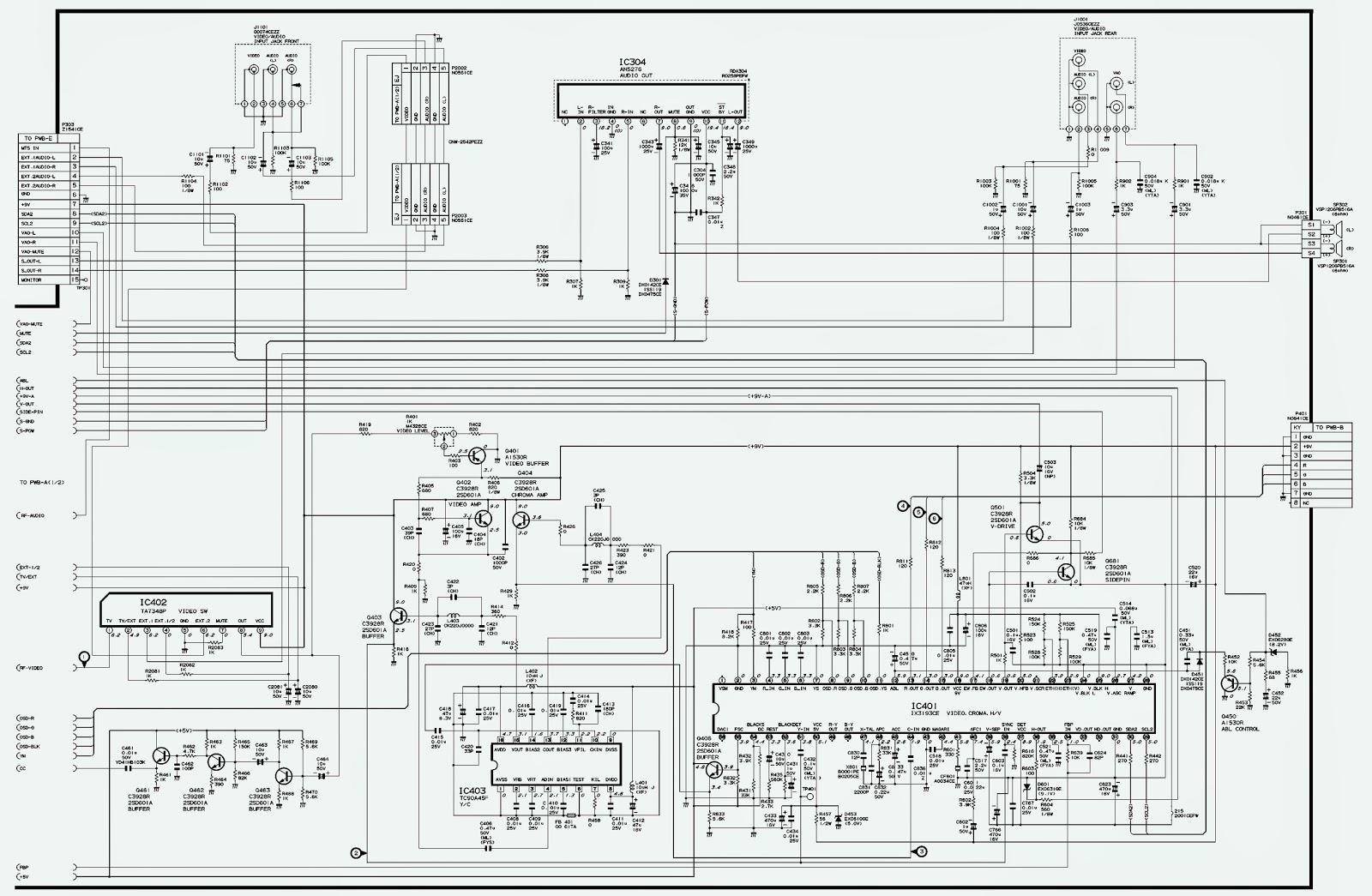 sharp 21v fk200m diagram